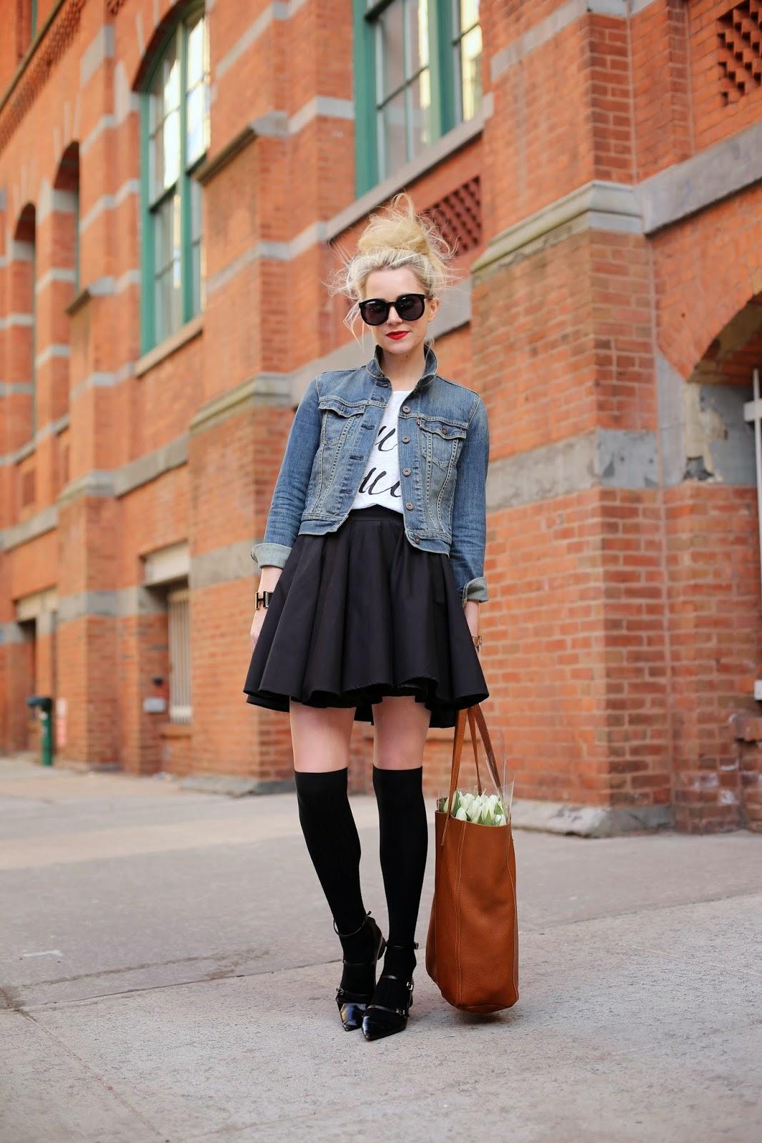 Сочетание джинсовки с платьем