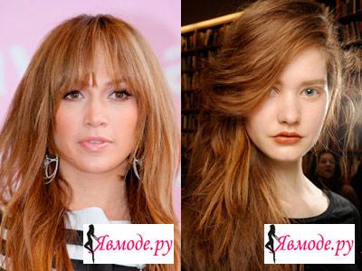 Модный цвет волос 2013 - рыжий
