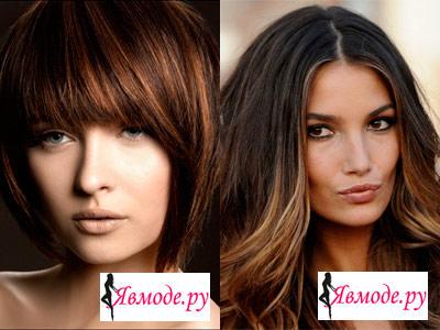 Модный цвет волос 2013 - шоколадный цвет