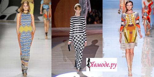 Модные платья 2013 – асимметрия и геометрические принты
