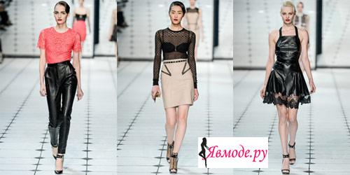 Мода весна-лето 2013 - кожаная одежда