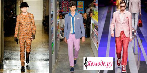 Мужская мода весна-лето 2013 - необычные цвета