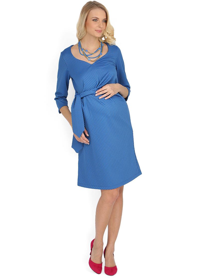 Синее модное платье для беременных женщин – фото новинки и тренды сезона