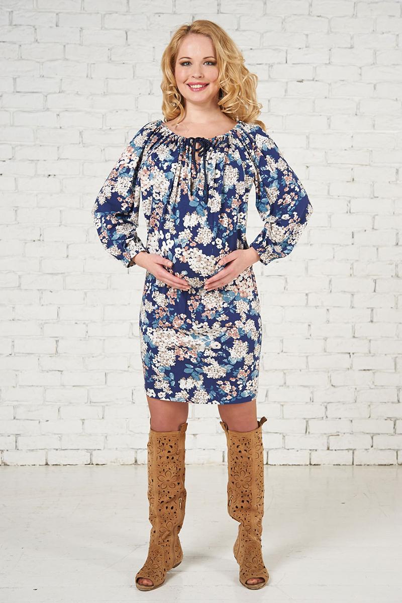 Модное платье для беременных с цветочным принтом – фото новинки и тренды сезона