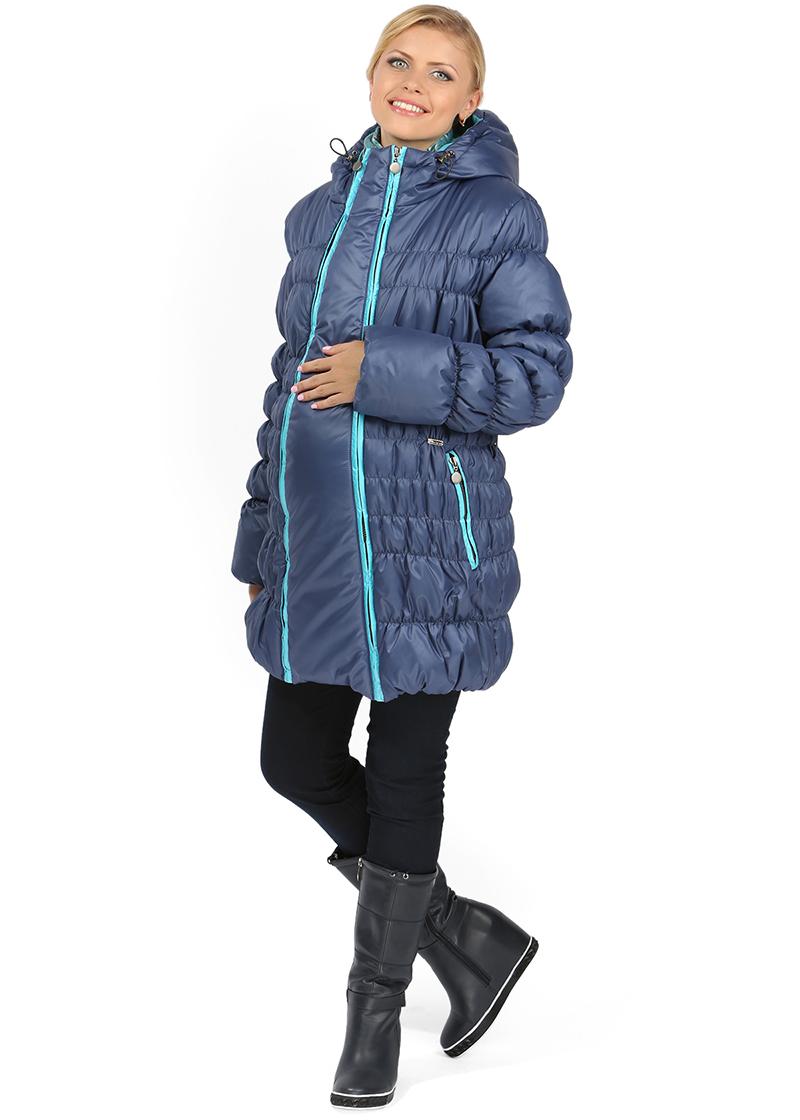 Синяя модная куртка для беременных женщин