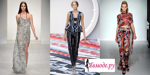 Мода весна-лето 2013 - Вырезы и разрезы