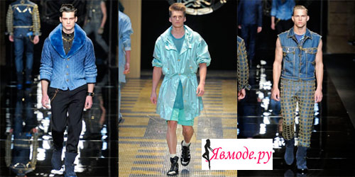 Мужская мода весна-лето 2013 - синий цвет