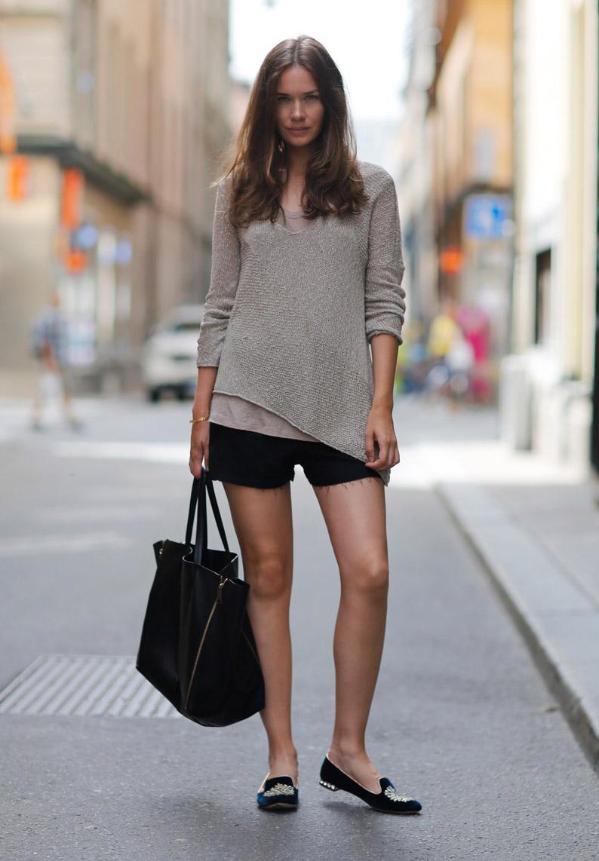 Туфли лоферы с шортами – фото новинки