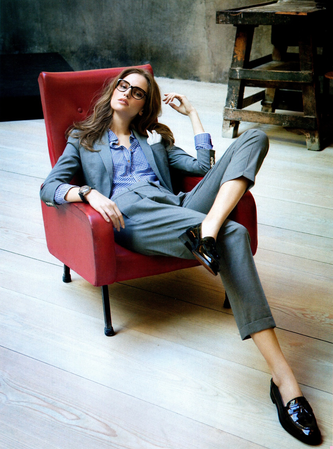 Лоферы с классическими брюками – фото новинки сезона