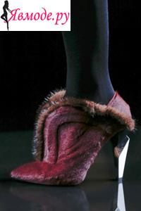 Модная обувь осень зима 2013 2014 - вставки из меха