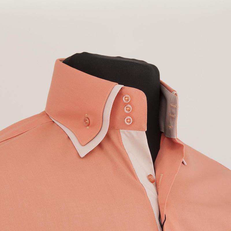 Фото новинка сезона: мужская рубашка с двойным воротником