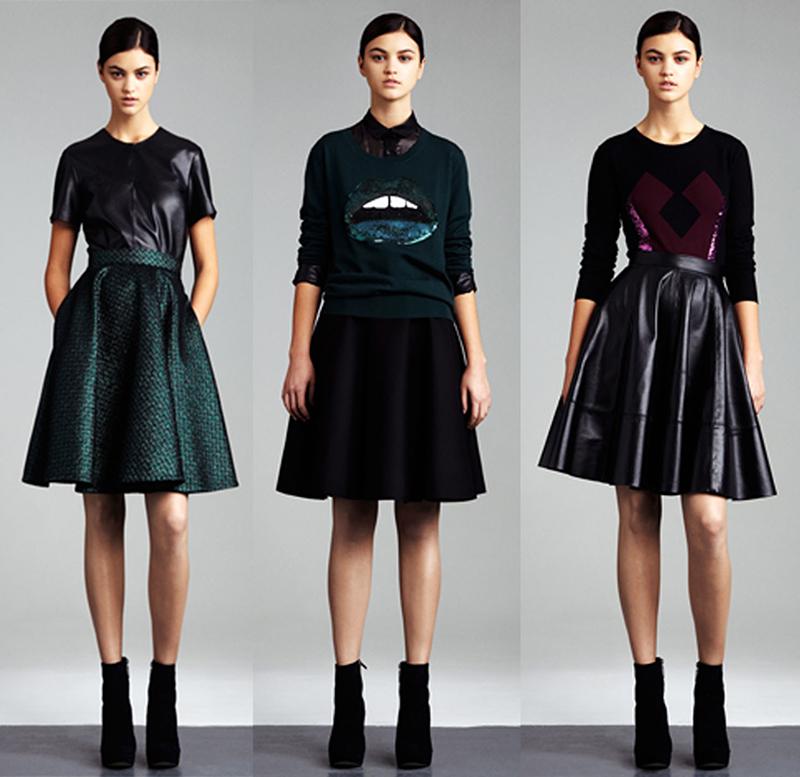Варианты модной юбки солнце - фото новинки сезона