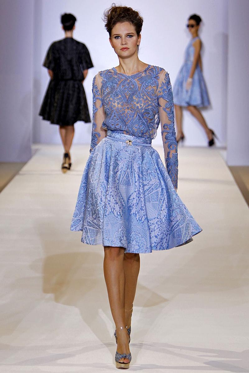Фото новинка: голубая юбка солнце