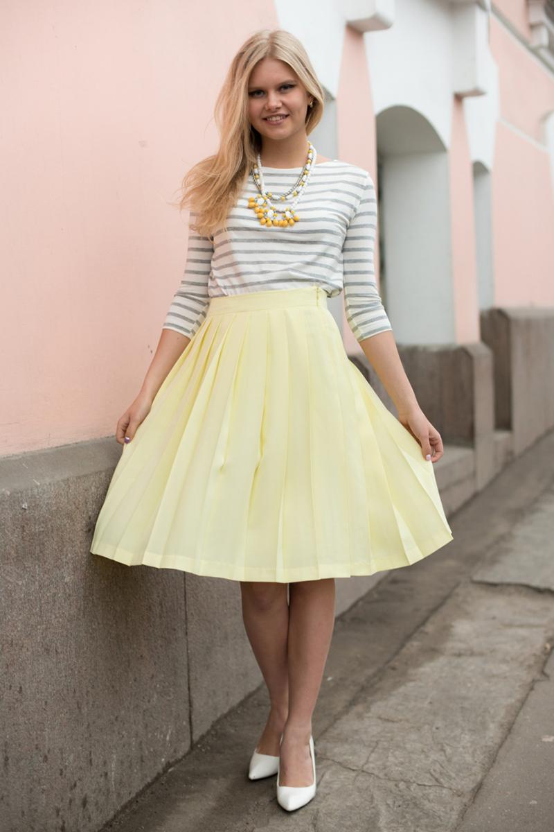 Фото модной юбки солнце