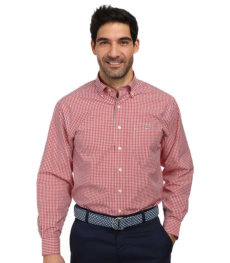 Розовая мужская рубашка в клетку – фото новинки