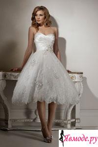 Свадебное платье короткое