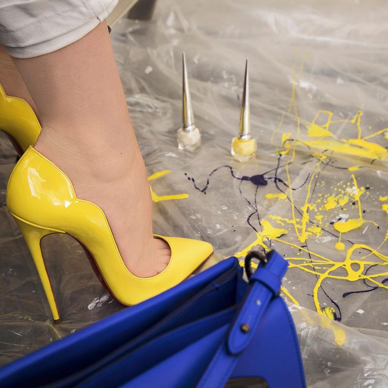 Желтые туфли Лабутен: LIMITED EDITION