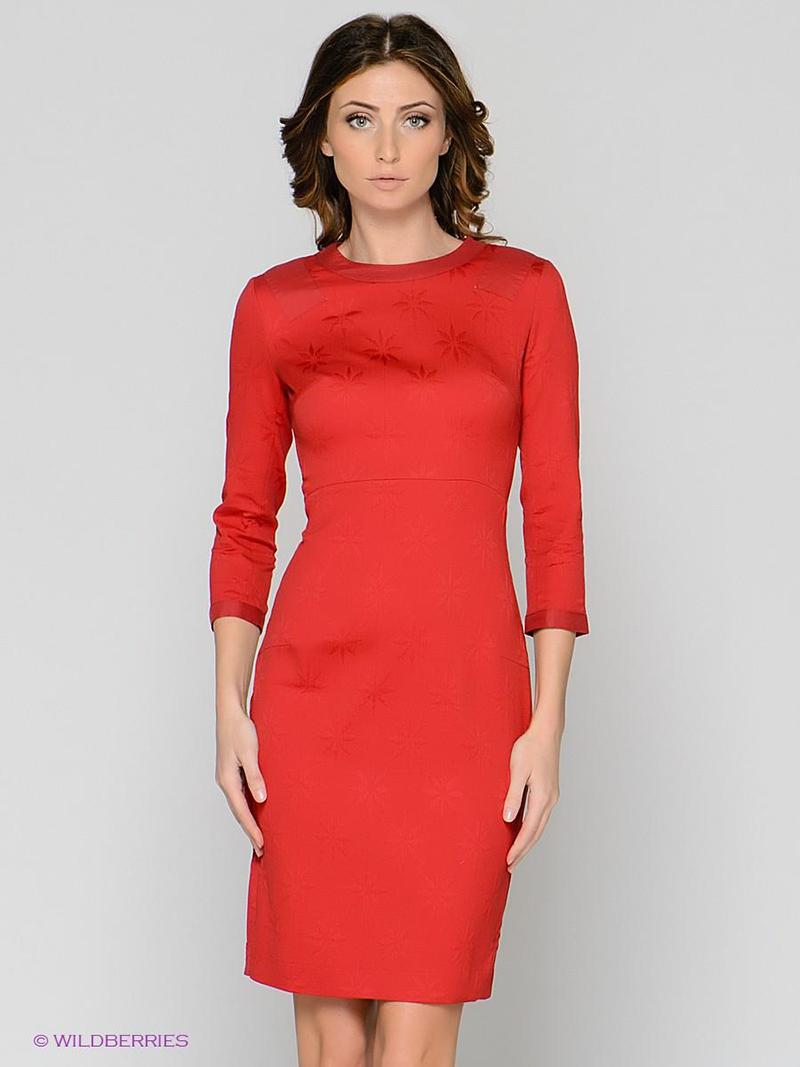 Красное платье футляр – фото новинка сезона