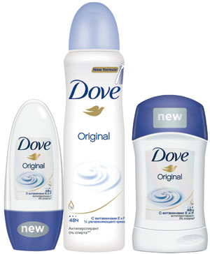 Dove представляет линию антиперспирантов