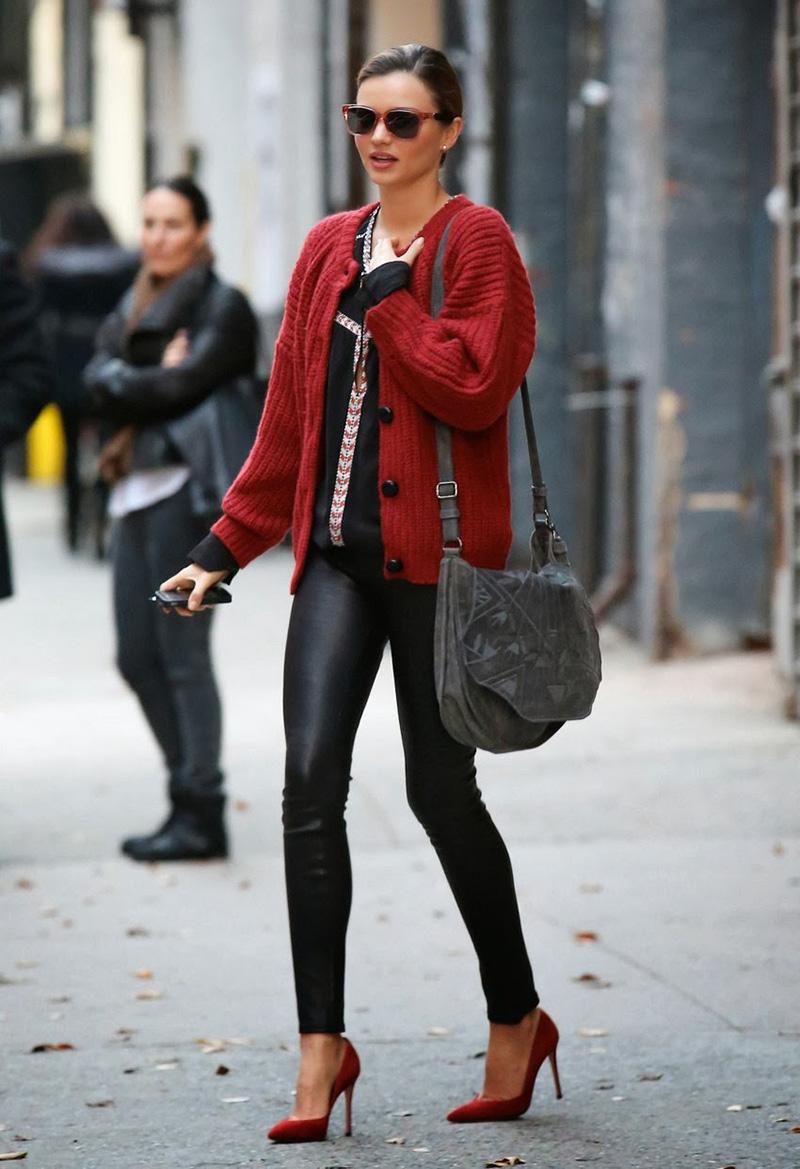 Модный кардиган с леггинсами – фото новинка сезона