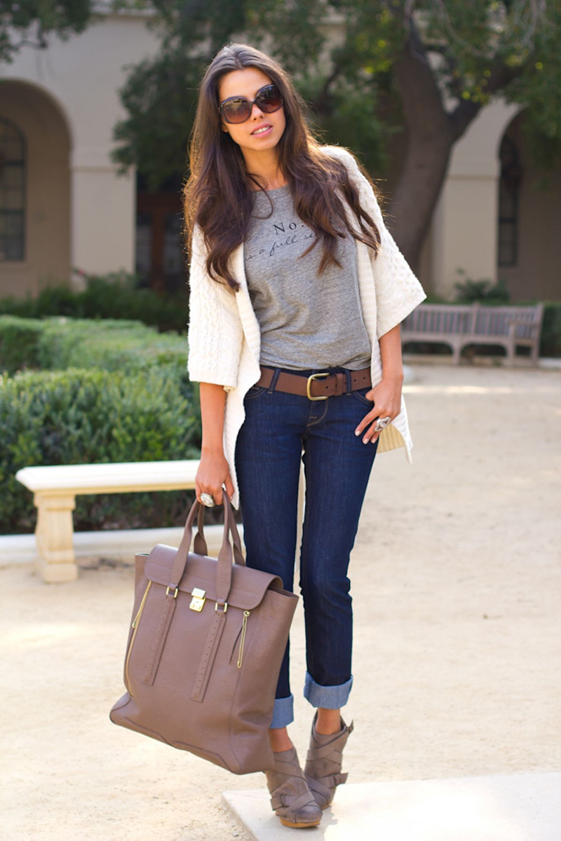Кардиган с джинсами – фото новинка сезона