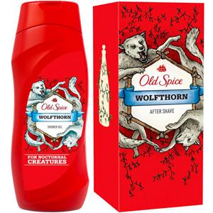 Гель для душа и лосьон после бритья Old Spice из «дикой» коллекции Wolforn