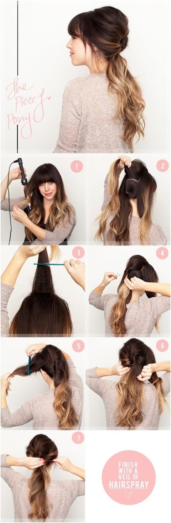 Детские простые причёски на длинные волосы своими руками фото пошагово