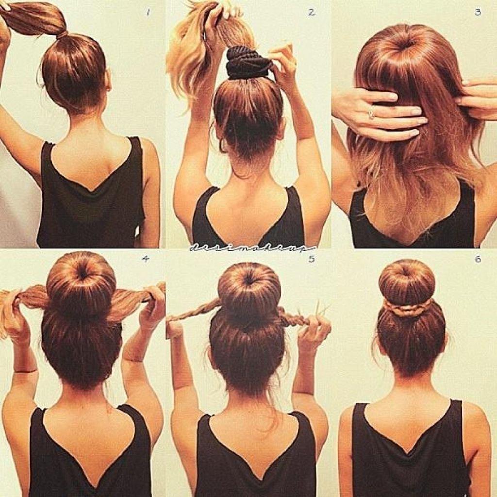 7 вариантов как сделать красивый пучок из волос для волос 99