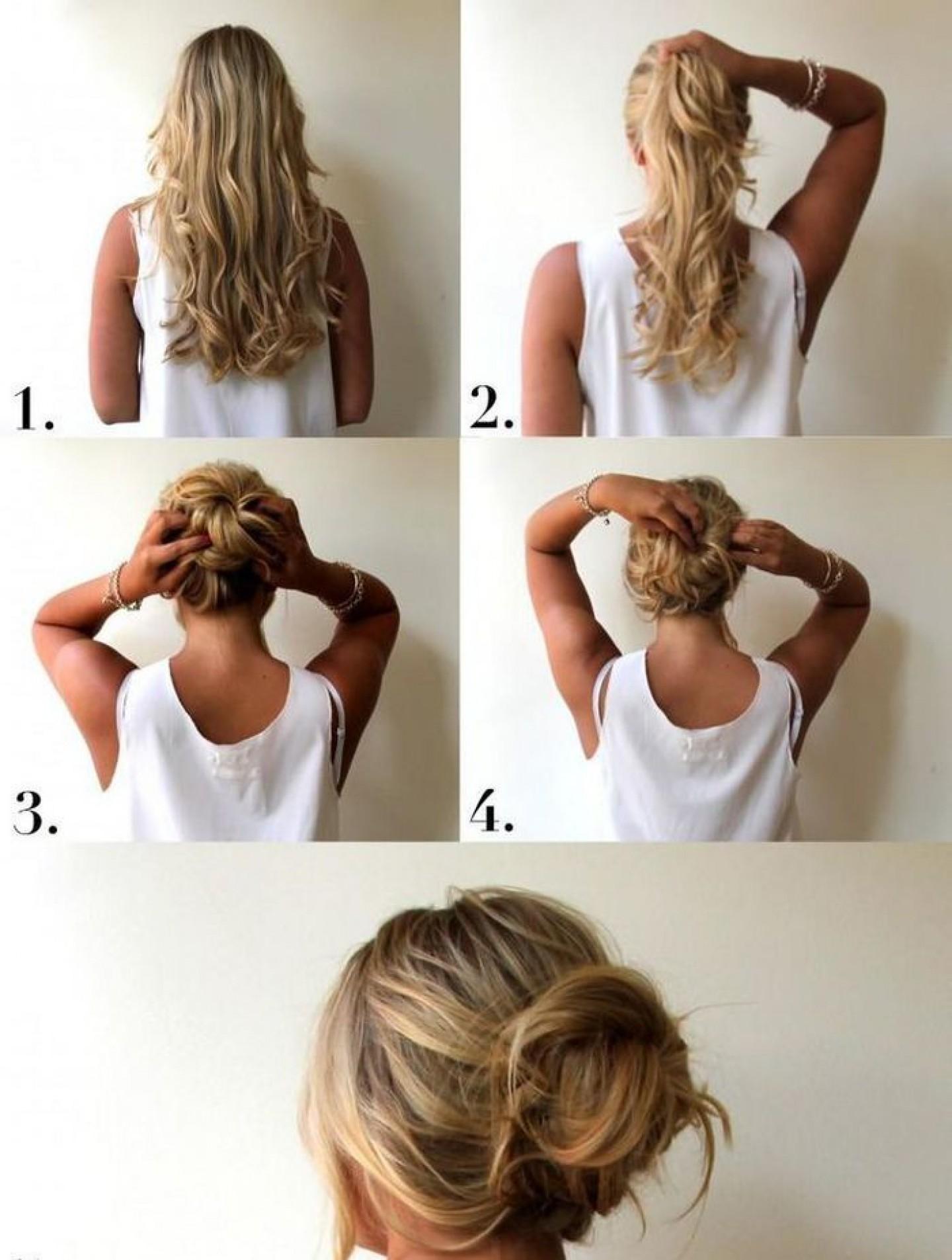 Как сделать прическу небрежные волосы 902