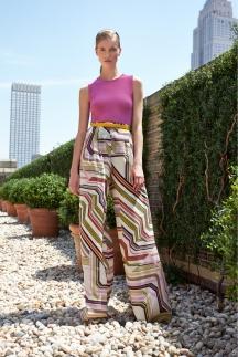 Расклешенные цветные брюки Carolina Herrera 2014