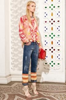 Модные джинсы 2014 – укороченные джинсы. Roberto Cavalli весна лето 2014.