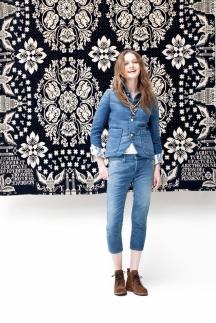 Модные джинсы 2014 – укороченные джинсы. Visvim весна лето 2014.