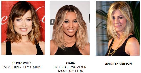 модные прически 2014 год длины волос