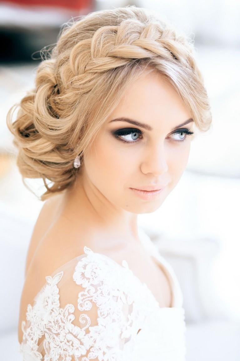 Свадебные прически собранные для волос средней длины