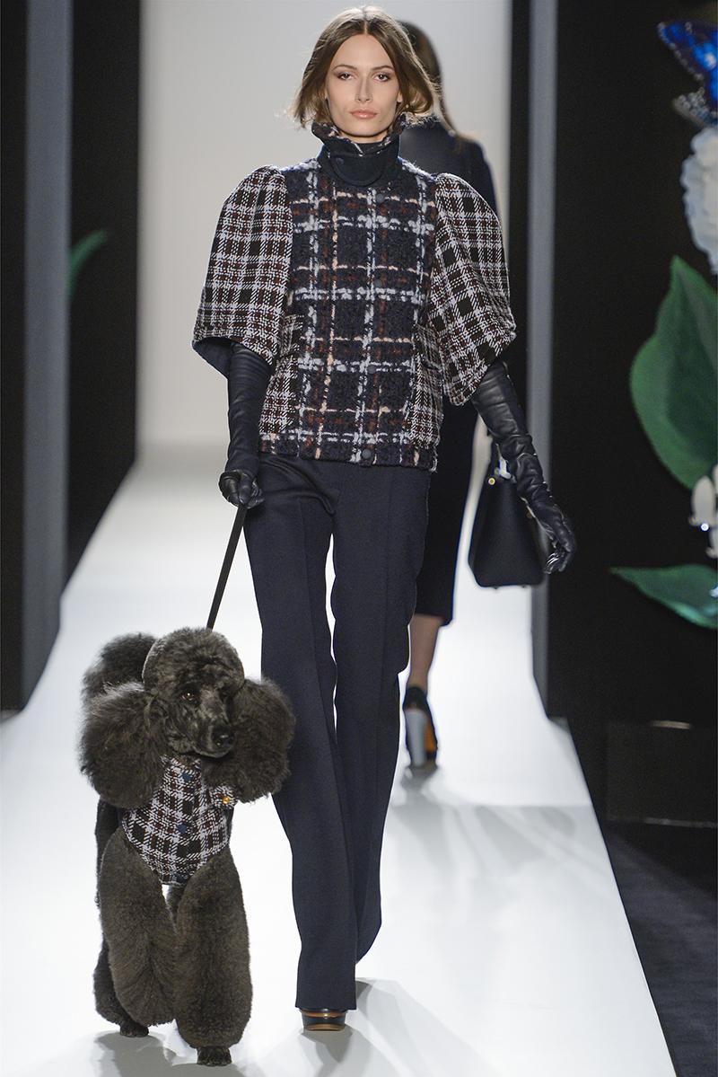 Модный узор в клетку – куртка-пальто
