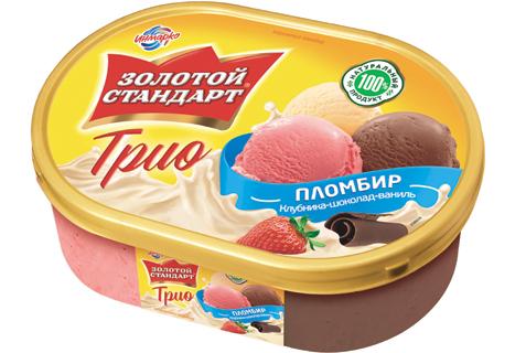 Пломбир «Золотой Стандарт»: мороженое трио