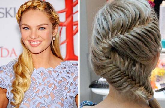 Легкие прически для волос средней длины косы