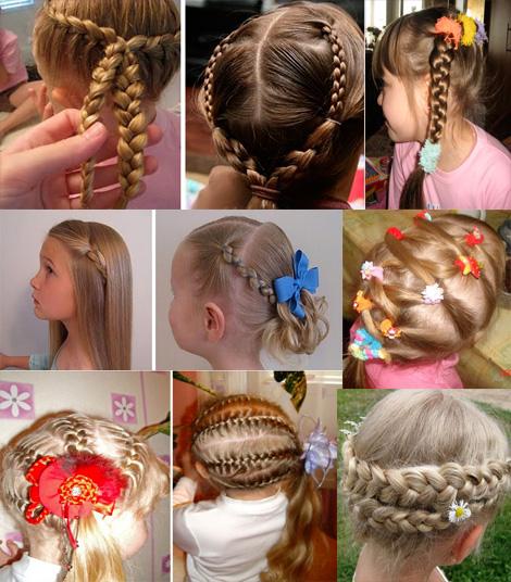 Прически для девочек на средние волосы легкие