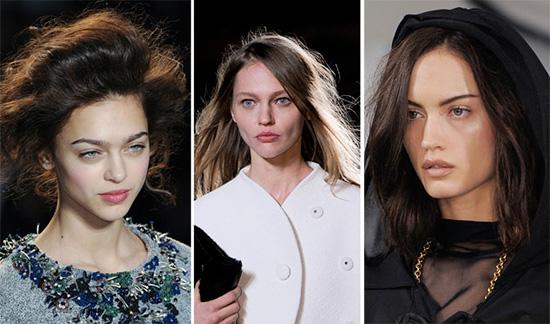 Модные прически 2014 - прямые и локоны