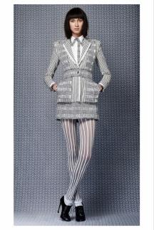 Колготки в полоску - модный тренд 2014