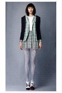 Колготки в полоску - мода 2014