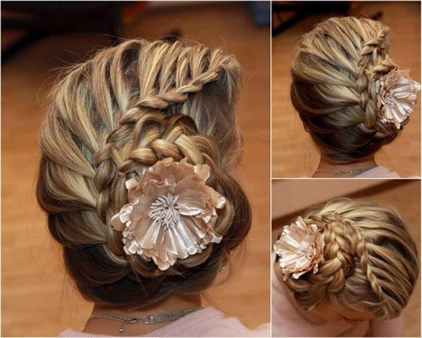 Косая коса - техника косого плетения