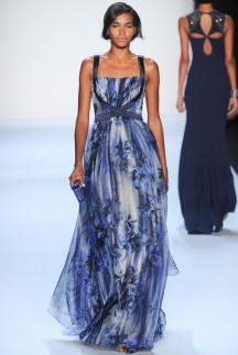 Badgley_Mischka цветное длинное платье