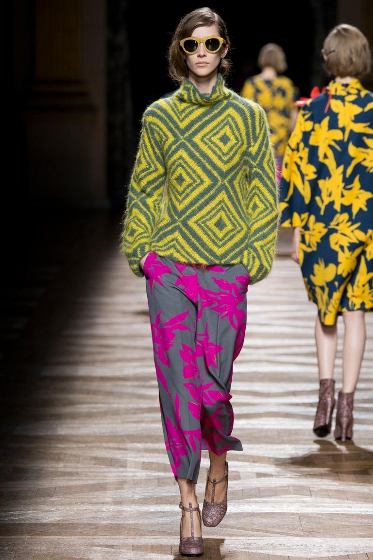 Фото модной кофты 2015 с геометрическим рисунком – Dries Van Noten