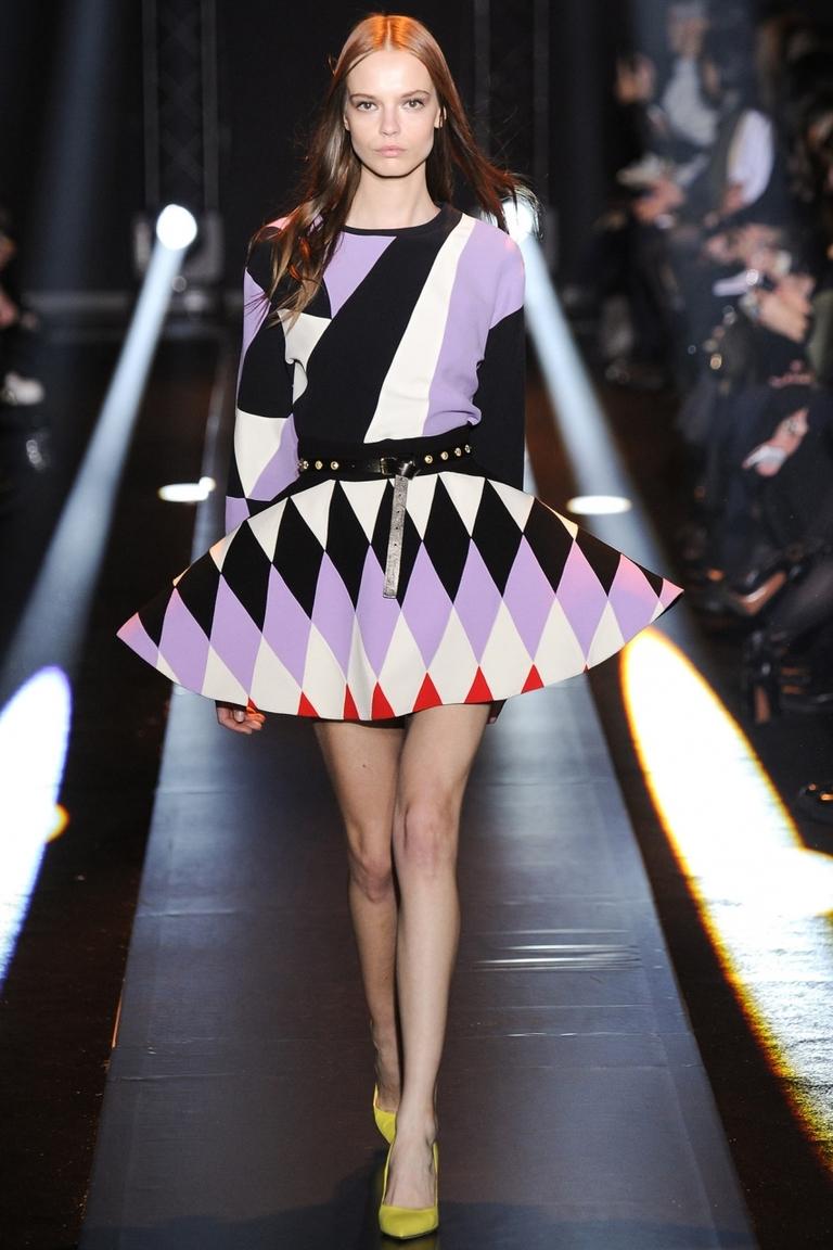 Модная кофта 2015 с геометрическим узором – фото коллекции Fausto Puglisi