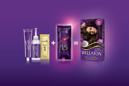 Wellaton 2-in-1 Color System, Wella, краска для волос Wella