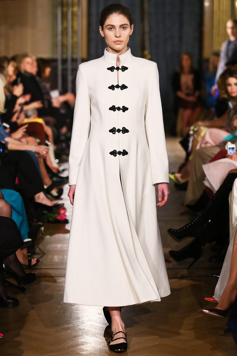 Длинное однотонное модное пальто 2015 – A LA RUSSE Anastasia Romantsova