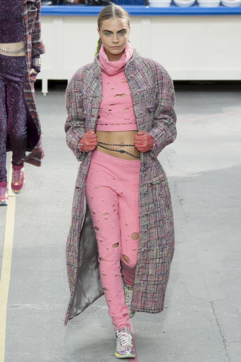 Длинное цветное модное пальто 2015 – Chanel