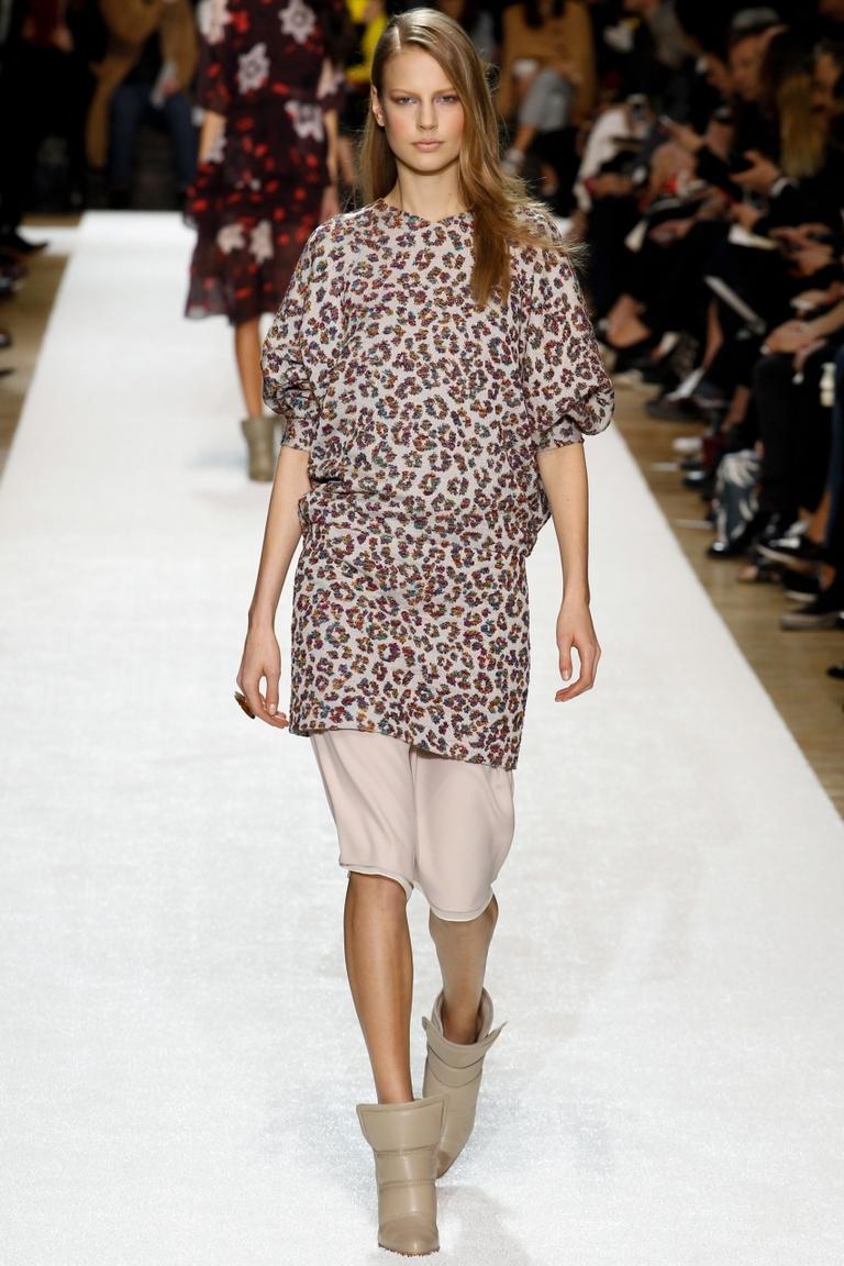 Модная женская рубашка 2015 с рисунками – фото новинки от Chloé