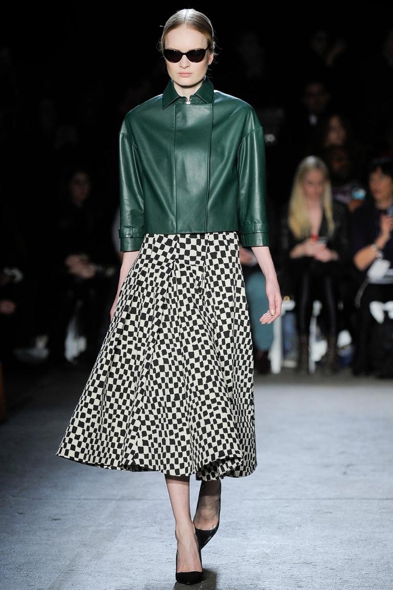 Модная пышная юбка 2015 в клетку – фото новинка в коллекции Christian Siriano